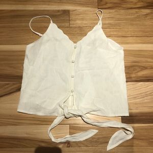 White Button up Tank top NWOT